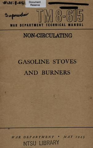Primary view of object titled 'Gasoline stoves and burners'.