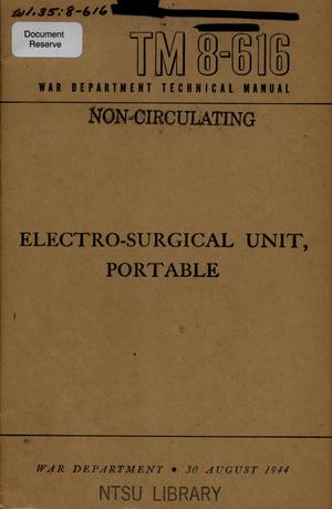 Primary view of object titled 'Electro-surgical unit, portable.'.