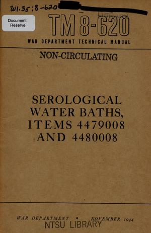 Primary view of object titled 'Serological water baths : items 4479008 and 4480008.'.