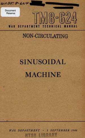 Primary view of object titled 'Sinusoidal machine.'.