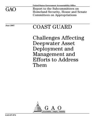 Primary view of object titled 'Coast Guard: Challenges Affecting Deepwater Asset Deployment and Management and Efforts to Address Them'.