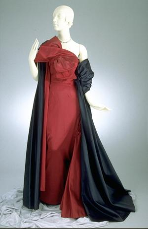 Primary view of object titled 'Evening Gown and Stole'.
