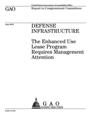 Primary view of object titled 'Defense Infrastructure: The Enhanced Use Lease Program Requires Management Attention'.