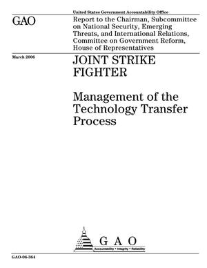 Primary view of object titled 'Joint Strike Fighter: Management of the Technology Transfer Process'.