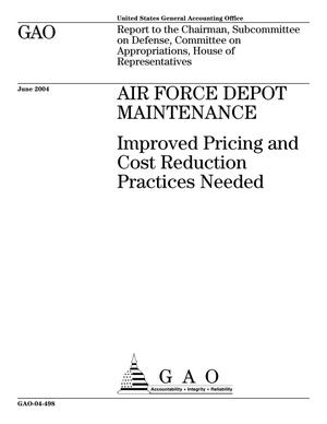 Primary view of object titled 'Air Force Depot Maintenance: Improved Pricing and Cost Reduction Practices Needed'.