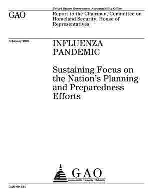 Primary view of object titled 'Influenza Pandemic: Sustaining Focus on the Nation's Planning and Preparedness Efforts'.