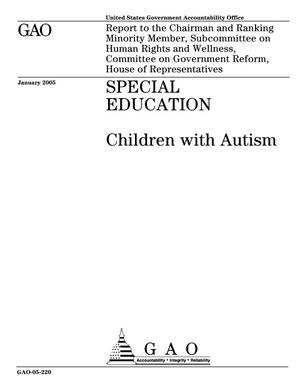 Primary view of object titled 'Special Education: Children With Autism'.