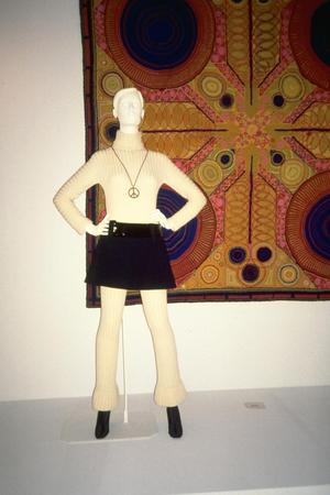Primary view of object titled 'Ensemble - Bodystocking, Mini-Skirt and Belt'.