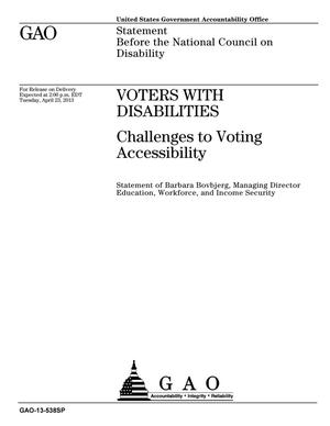 Primary view of object titled 'Voters with Disabilities: Challenges to Voting Accessibility'.