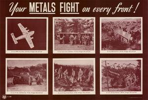 Primary view of object titled 'Your metals fight on every front!'.