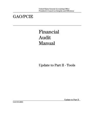 Primary view of object titled 'Financial Audit Manual: Update to Part II--Tools'.