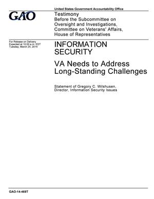 Primary view of object titled 'Information Security: VA Needs to Address Long-Standing Challenges'.