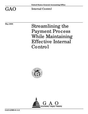 Primary view of object titled 'Streamlining the Payment Process While Maintaining Effective Internal Control'.