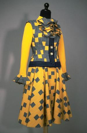 Primary view of object titled 'Ensemble - Vest, Blouse and Skirts'.