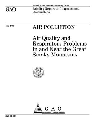 Primary view of object titled 'Air Pollution: Air Quality and Respiratory Problems in and Near the Great Smoky Mountains'.