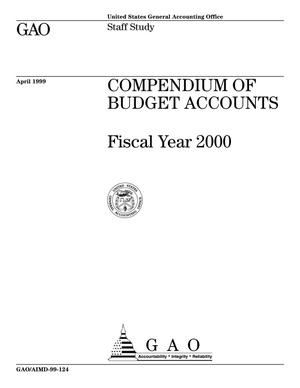 Primary view of object titled 'Compendium of Budget Accounts: Fiscal Year 2000'.