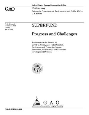 Primary view of object titled 'Superfund: Progress and Challenges'.
