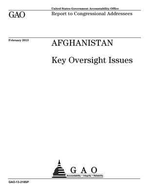 Primary view of object titled 'Afghanistan: Key Oversight Issues'.