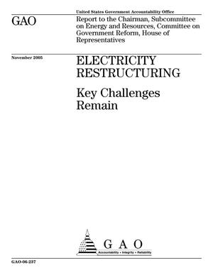 Primary view of object titled 'Electricity Restructuring: Key Challenges Remain'.