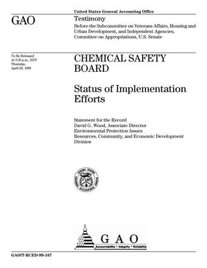 Primary view of object titled 'Chemical Safety Board: Status of Implementation Efforts'.