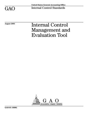 Primary view of object titled 'Internal Control Management and Evaluation Tool (Supersedes GAO-01-131G)'.