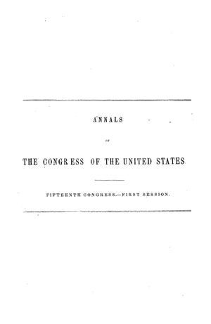 Primary view of The Debates and Proceedings in the Congress of the United States, Fifteenth Congress, First Session, [Volume 2]
