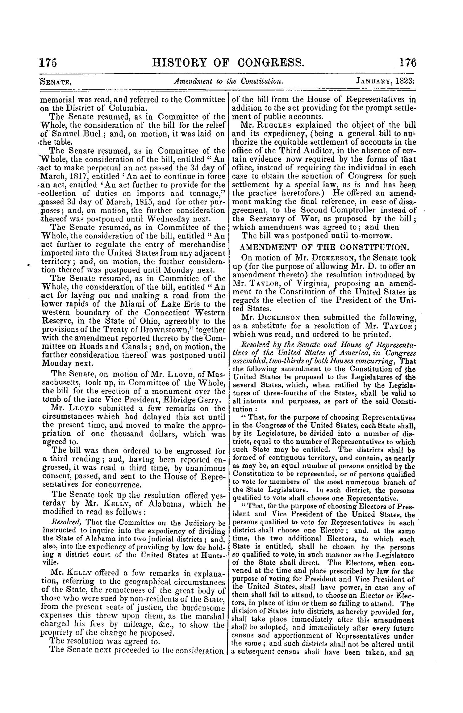 The Debates and Proceedings in the Congress of the United States, Seventeenth Congress, Second Session                                                                                                      175