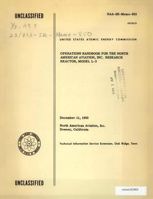 Primary view of object titled 'Operations Handbook for the North American Aviation, Inc. Research Reactor, Model L-3'.