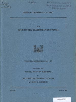 Primary view of object titled 'The Unified Soil Classification System'.