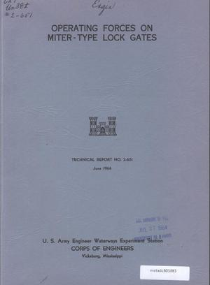 Primary view of object titled 'Operating Forces on Miter-Type Lock Gates'.