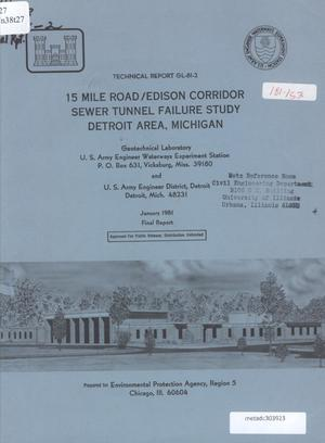 Primary view of object titled '15 Mile Road/Edison Corridor Sewer Tunnel Failure Study, Detroit Area, Michigan'.