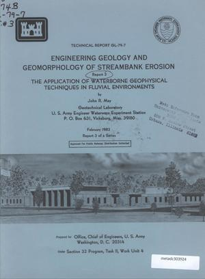 Primary view of object titled 'Engineering Geology and Geomorphology of Streambank Erosion, Report 3: The Application of Waterborne Geophysical Techniques in Fluvial Environments'.