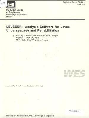 Primary view of object titled 'LEVSEEP: Analysis Software for Levee Underseepage and Rehabilitation'.