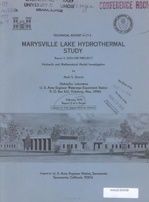 Primary view of object titled 'Marysville Lake Hydrothermal Study: Report 2'.