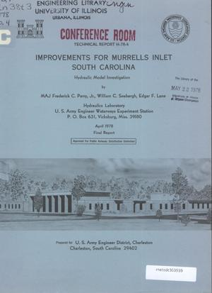 Primary view of object titled 'Improvements for Murrells Inlet, South Carolina: Hydraulic Model Investigation'.