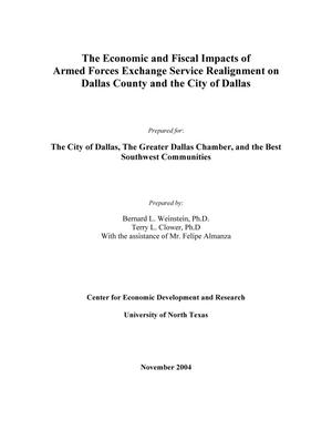 The Economic and Fiscal Impacts of Armed Forces Exchange Service Realignment on Dallas County and the City of Dallas