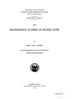 Primary view of object titled 'The Transportation of Débris by Running Water'.