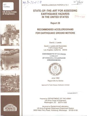 Primary view of object titled 'State-of-the-Art for Assessing Earthquake Hazards in the United States, Report 28: Recommended Accelerograms for Earthquake Ground Motions'.