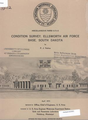 Primary view of object titled 'Condition Survey: Ellsworth Air Force Base, South Dakota'.