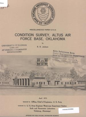 Primary view of object titled 'Condition Survey: Altus Air Force Base, Oklahoma'.