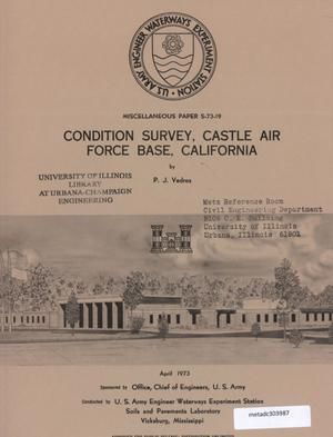 Primary view of object titled 'Condition Survey: Castle Air Force Base, California'.