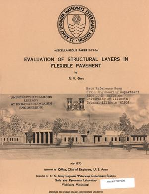 Primary view of object titled 'Evaluation of Structural Layers in Flexible Pavement'.