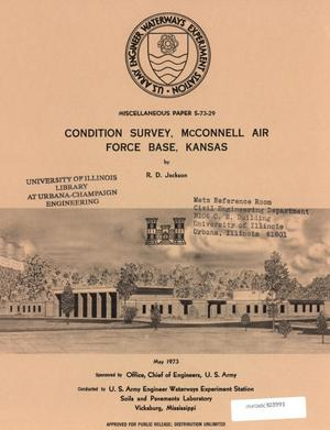 Primary view of object titled 'Condition Survey: McConnell Air Force Base, Kansas'.