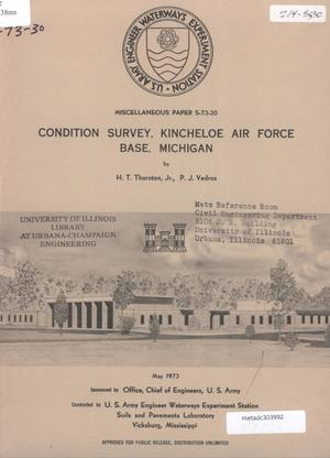 Primary view of object titled 'Condition Survey: Kincheloe Air Force Base, Michigan'.