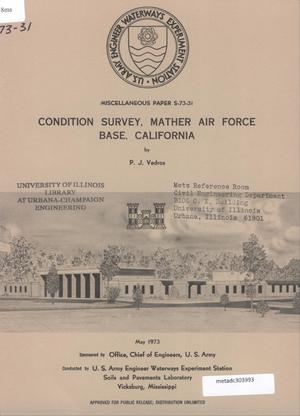 Primary view of object titled 'Condition Survey: Mather Air Force Base, California'.