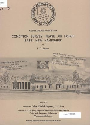 Primary view of object titled 'Condition Survey: Pease Air Force Base, New Hampshire'.
