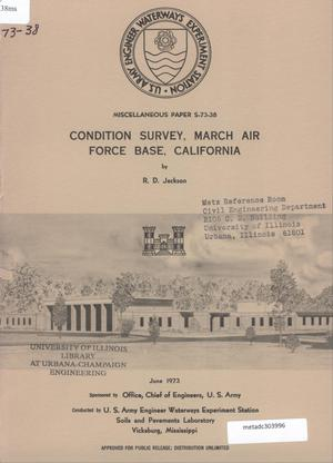 Primary view of object titled 'Condition Survey: March Air Force Base, California'.