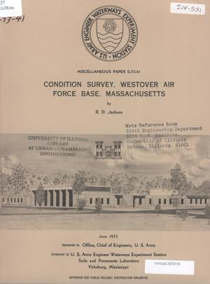 Primary view of object titled 'Condition Survey: Westover Air Force Base, Massachusetts'.