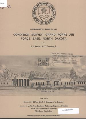 Primary view of object titled 'Condition Survey: Grand Forks Air Force Base, North Dakota'.