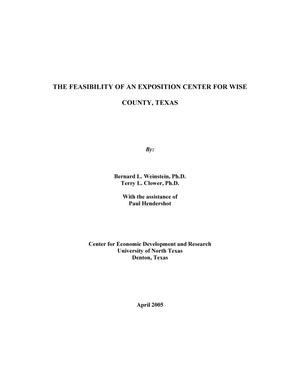 Primary view of object titled 'The Feasibility of an Exposition Center for Wise County, Texas'.